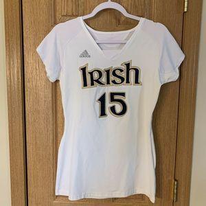 Adidas Notre Dame #15 Women's Jersey M